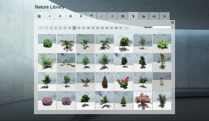 thư viện cây lumion, lumion library