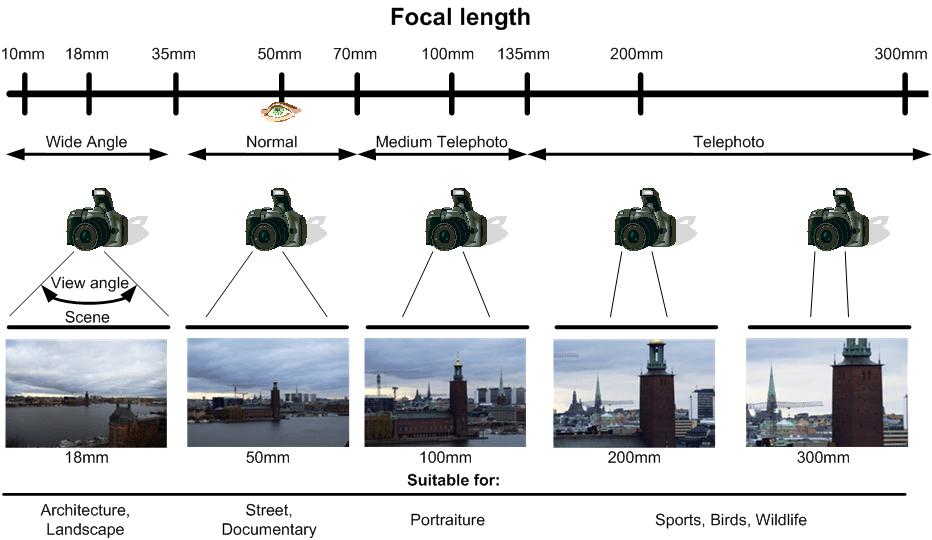 Chi tiết về tiêu cự ống kính trong Lumion và Vray