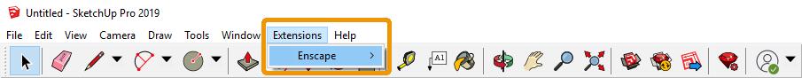 Vị trí của menu Enscape trong SketchUp